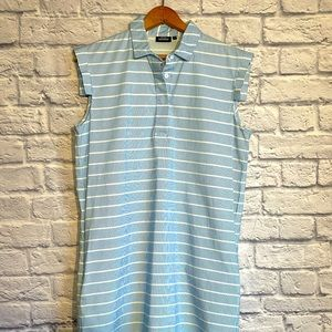 Kate Spade SATURDAY Blue White Stripes Dress MED